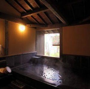 城乃井旅館の中の貸し切り風呂を誉められましたin菊池温泉