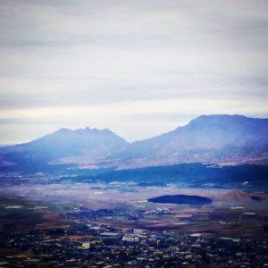 菊池阿蘇スカイラインをぬけて、外輪山、扇森稲荷神社⛩️へ