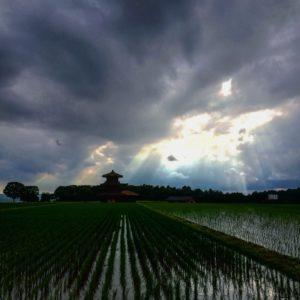 鳳凰雲 天使の梯子